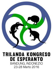 Trilanda Kongreso de Esperanto Emblemo kun Teksto