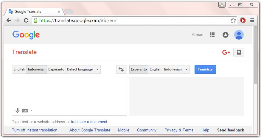 The Google Translation Is Not A Learning Site But You Can Easily Find Definition On Many Languages Including Bahasa Indonesia English And Esperanto