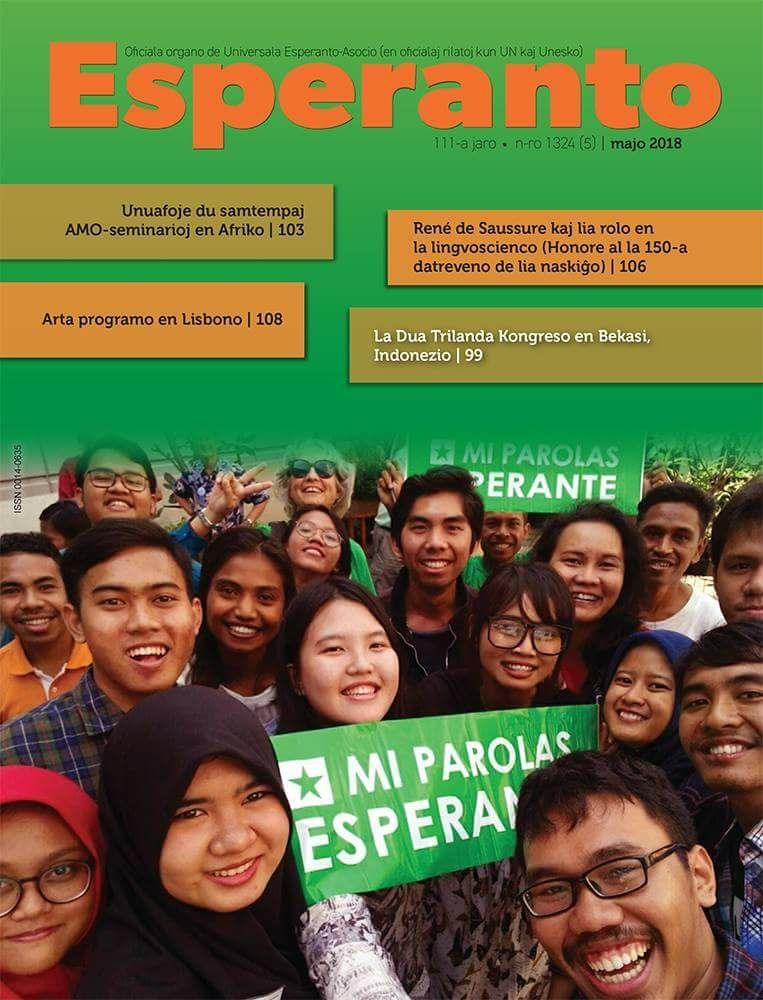 Cover Revuo Esperanto - Majo 2018